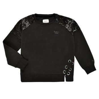 Clothing Girl Sweaters Pepe jeans ELENA Black