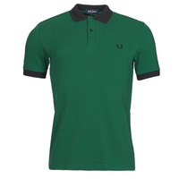 Clothing Men Short-sleeved polo shirts Fred Perry CONTRAST TRIM POLO SHIRT Green