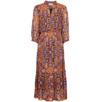 Clothing Women Long Dresses Derhy TAC-TAC ROBE Red / Multicolour