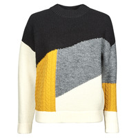 Clothing Women Jumpers Derhy PEGASE PULL Grey / Multicolour