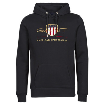 Clothing Men Sweaters Gant ARCHIVE SHIELD HOODIE Black