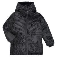Clothing Girl Duffel coats Desigual MOSELLE Black