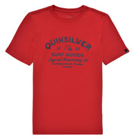 Clothing Boy Short-sleeved t-shirts Quiksilver CLOSED CAPTIONS SS Red