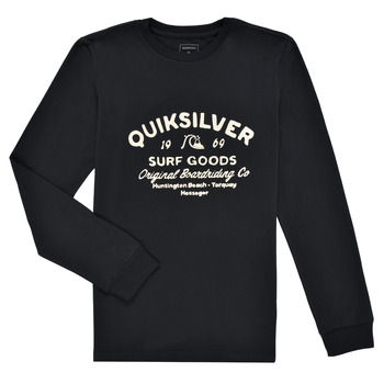 Clothing Boy Long sleeved tee-shirts Quiksilver CLOSED CAPTION LS Black