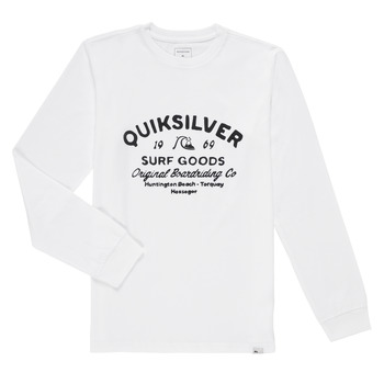 Clothing Boy Long sleeved tee-shirts Quiksilver CLOSED CAPTION LS White