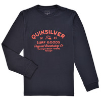 Clothing Boy Long sleeved tee-shirts Quiksilver CLOSED CAPTION LS Marine