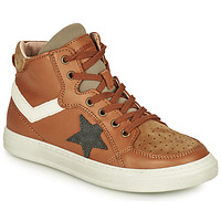 Shoes Boy Hi top trainers Bisgaard ISAK Cognac