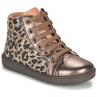Shoes Girl Hi top trainers Bisgaard GAIA Leopard / Gold