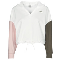 Clothing Women Sweaters Puma MODERN SPORT HOODIE White / Multicolour