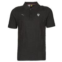 Clothing Men Short-sleeved polo shirts Puma FERRARI STYLE JACQUARD POLO Black