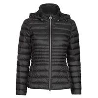 Clothing Women Duffel coats Geox JAYSEN HOOD Black