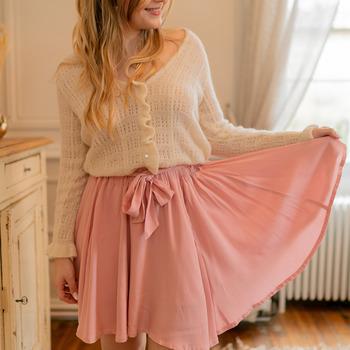 Clothing Women Skirts Céleste EGLANTINE Pink