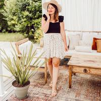 Clothing Women Skirts Céleste EGLANTINE Ecru / Black