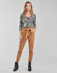Clothing Women 5-pocket trousers One Step FT22111 Beige