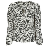 Clothing Women Tops / Blouses Morgan CHICKY.F Black / White