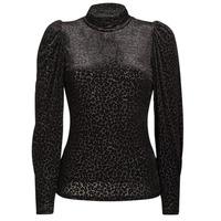 Clothing Women Long sleeved tee-shirts Morgan TISPI Black