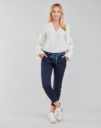 Clothing Women 5-pocket trousers Freeman T.Porter CLAUDIA FELICITA Marine