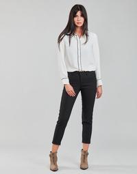 Clothing Women 5-pocket trousers Freeman T.Porter CLAUDIA POLYNEO Black