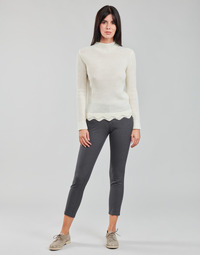 Clothing Women 5-pocket trousers Freeman T.Porter ADELIE PRINCESS Grey / Anthracite