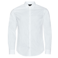 Clothing Men Long-sleeved shirts Emporio Armani 8N1C09 White