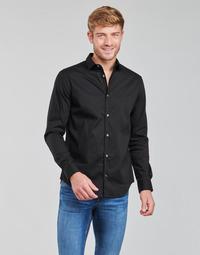 Clothing Men Long-sleeved shirts Emporio Armani 8N1C09 Black