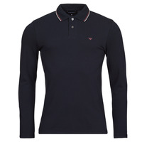 Clothing Men Long-sleeved polo shirts Emporio Armani 8N1FB5 Marine