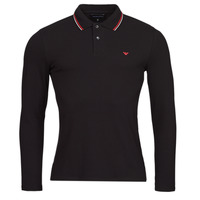 Clothing Men Long-sleeved polo shirts Emporio Armani 8N1FB5 Black