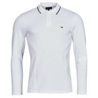 Clothing Men Long-sleeved polo shirts Emporio Armani 8N1FB5 White
