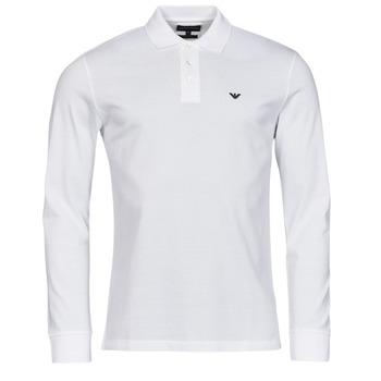 Clothing Men Long-sleeved polo shirts Emporio Armani 8N1FQ0 White