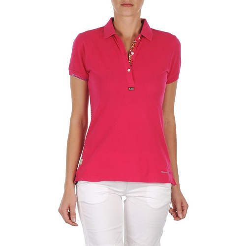 Clothing Women short-sleeved polo shirts Napapijri ELINDA Pink