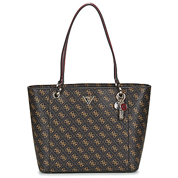 Bags Women Shopping Bags / Baskets Guess NOELLE ELITE TOTE Brown