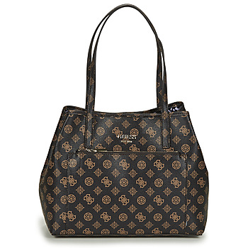 Bags Women Shopping Bags / Baskets Guess VIKKY ROO TOTE Brown