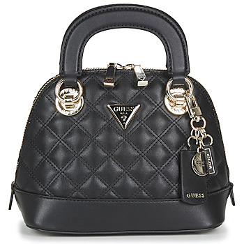 Bags Women Handbags Guess CESSILY SMALL DOME SATCHEL Black