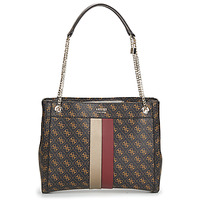 Bags Women Shopping Bags / Baskets Guess KATEY GIRLFRIEND CARRYALL Brown / Red
