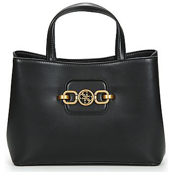Bags Women Handbags Guess HENSELY GIRLFRIEND SATCHEL Black
