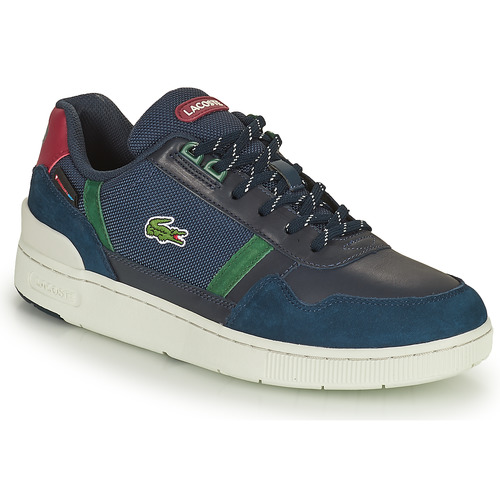 Shoes Men Low top trainers Lacoste T-CLIP 0121 6 SMA Marine / Green