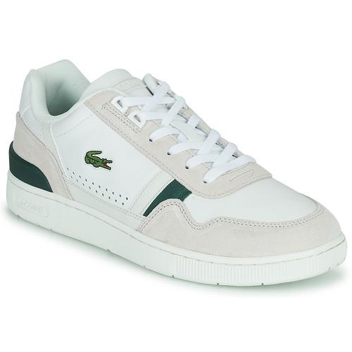 Shoes Men Low top trainers Lacoste T-CLIP 0120 3 SMA White / Beige