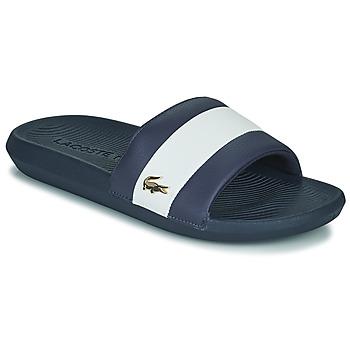 Shoes Men Sliders Lacoste CROCO SLIDE 120 3 US CMA Blue / White