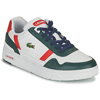 Shoes Children Low top trainers Lacoste T-CLIP 0121 2 SUC White / Green / Red
