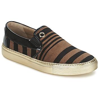 Shoes Women Slip-ons Sonia Rykiel STRIPES VELVET Black / Brown