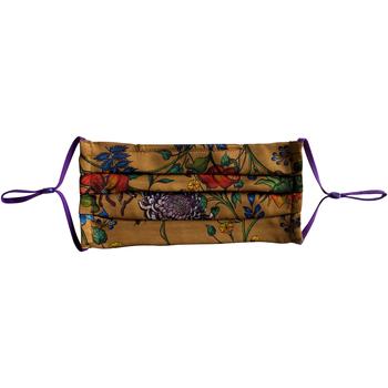 Clothes accessories Masks Anuschka 3303-CBG - 100% Silk Pleated Face Mask Multicolour
