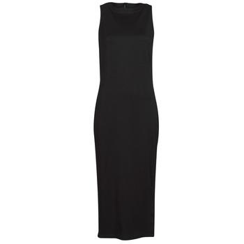 Clothing Women Short Dresses Karl Lagerfeld KITTED WRAP DRESS Black