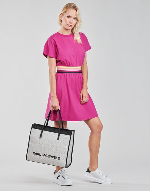 Karl Lagerfeld LOGO TAPE JERSEY DRESS