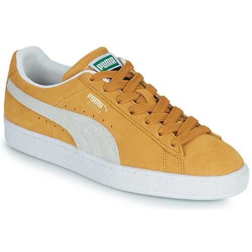 Shoes Low top trainers Puma SUEDE Yellow / White