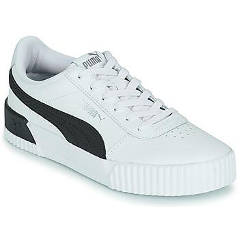 Shoes Women Low top trainers Puma CARINA White / Black