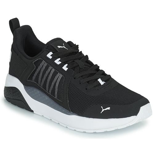 Shoes Boy Low top trainers Puma ANZARUN JR Black / White