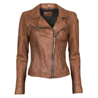 Clothing Women Leather jackets / Imitation leather Oakwood CLIPS 6 Brown