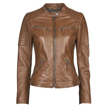 Clothing Women Leather jackets / Imitation leather Oakwood HILLS6 Cognac
