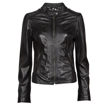 Clothing Women Leather jackets / Imitation leather Oakwood KARINE Black