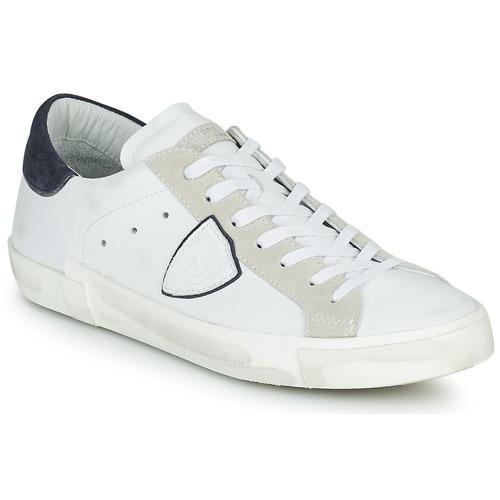 Shoes Men Low top trainers Philippe Model PRSX LOW MAN White